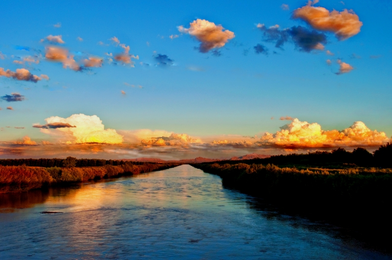 Sunset On The Rio Grande