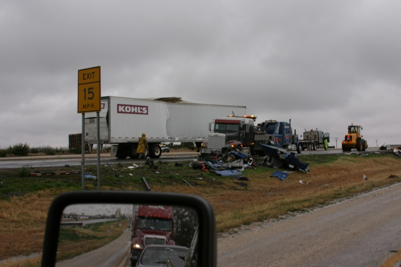 Tractor Trailer Destruction On Interstate 20