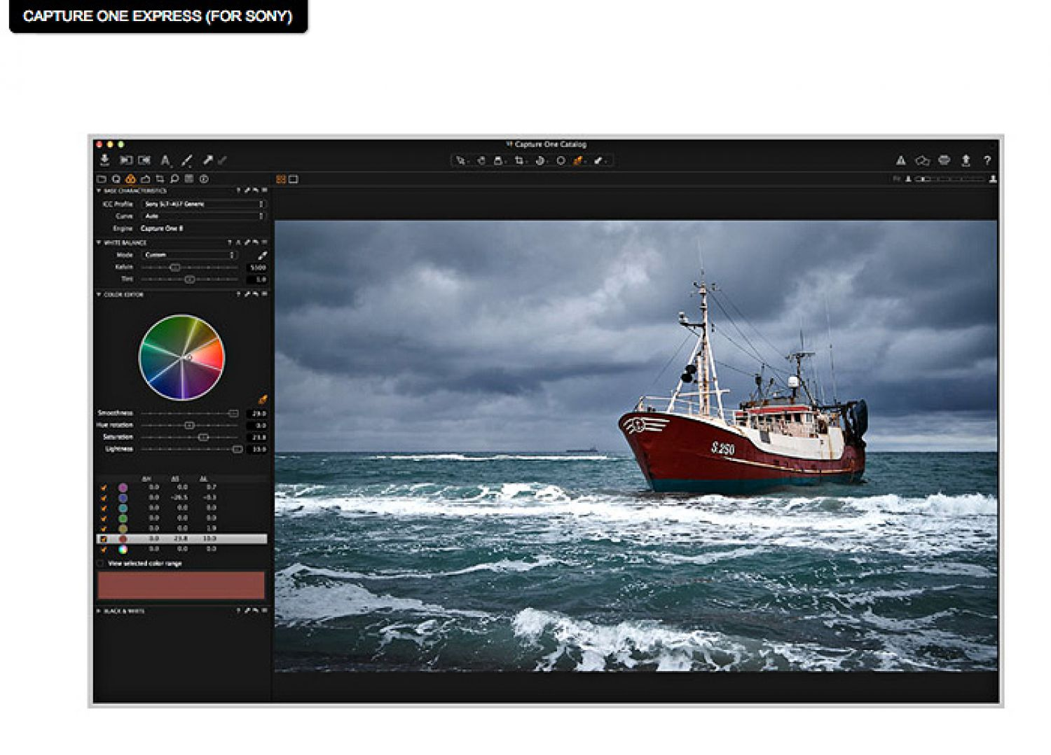 Special Capture One Software Developed For Selected Sony Cameras