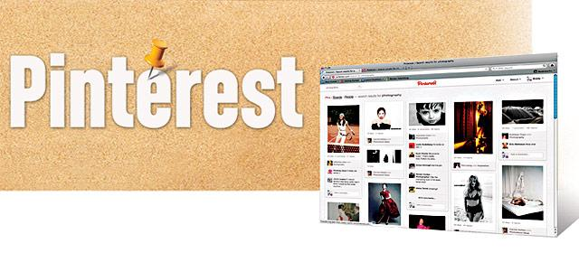A Pinterest pinboard shows photos gleaned from the Internet.