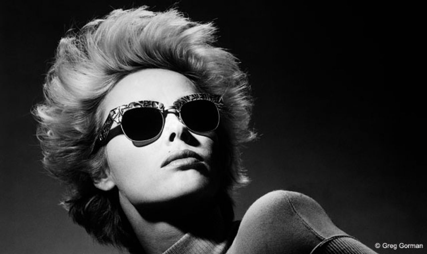 Greg Gorman has been producing dramatically lit, high-impact black-and-white images for an l.a.Eyeworks campaign that has been going strong for more than three decades. With an unprecedented amount of creative control, he has delivered photographs of artists from just about every imaginable field. Above: Model, actress and musician Brigitte Nielsen.